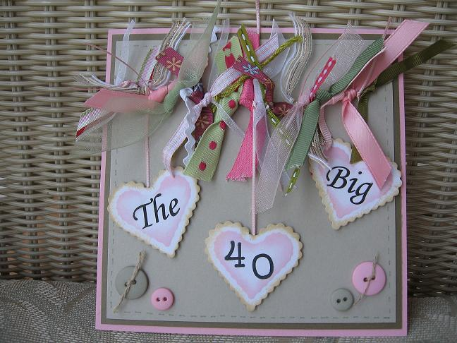 Card Making Ideas 40th Birthday Part - 29: Itu0027s ...