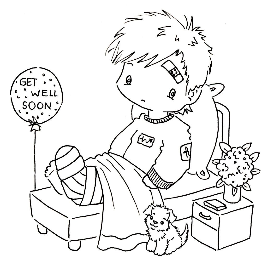 get well cards coloring pages - photo#9