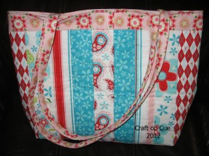 Quilted Tote Bag Back