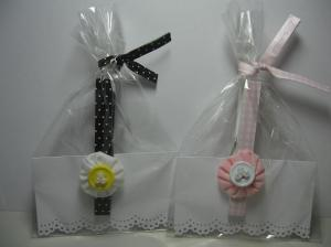 Clothespin magnets and gift bag with homemade twisty tie