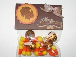 Thanksgiving Treat Bag Close Up View