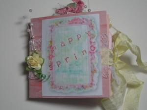 75% challenge Spring - Mini Tag Book
