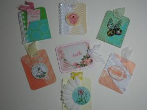 75% challenge Spring - Tags for mini book