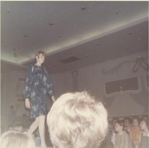 Yes, that's me in 1967 modeling the dress I made.